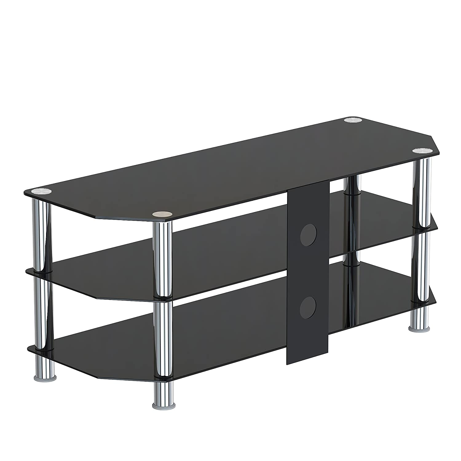 1home 120 Cm GT5 Glass TV Stand For 32 70 Inch Plasma: Amazon.de: Elektronik