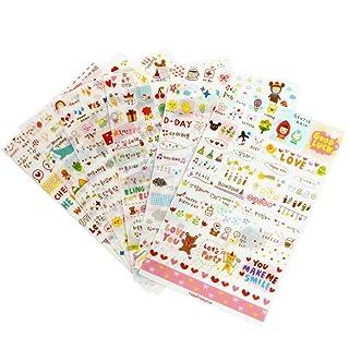 Dreamhouseuk cute 6fogli DIY Word Expression diario album sticker calendario di scrapbooking