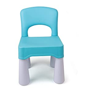 """Plastic Kids Chair, Durable and Lightweight, 9.65"""" Height Seat, Indoor or Outdoor Use (Blue)"""