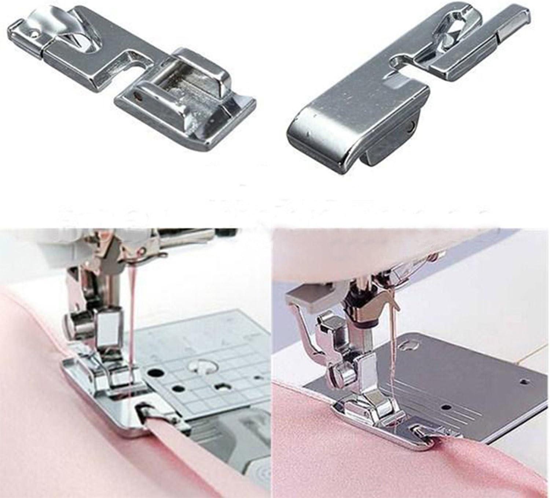 Máquina de Coser Prensatelas Rolled Dobladillo de Fijación Pie ...