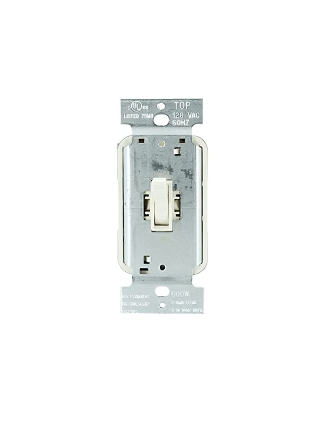Legrand - Pass & Seymour T603LAV 3 Way Dimmer Switch, Toggle 600-watt Light Switch Easy Install Light, Almond - Wall Dimmer Switches - Amazon.com