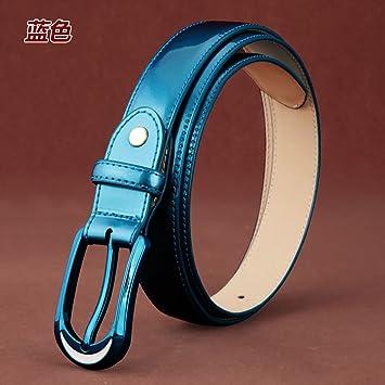 SILIU Mme attache ceinture fine en cuir verni élégant pantalon pour femmes  avec large ceinture 627d3b59c01
