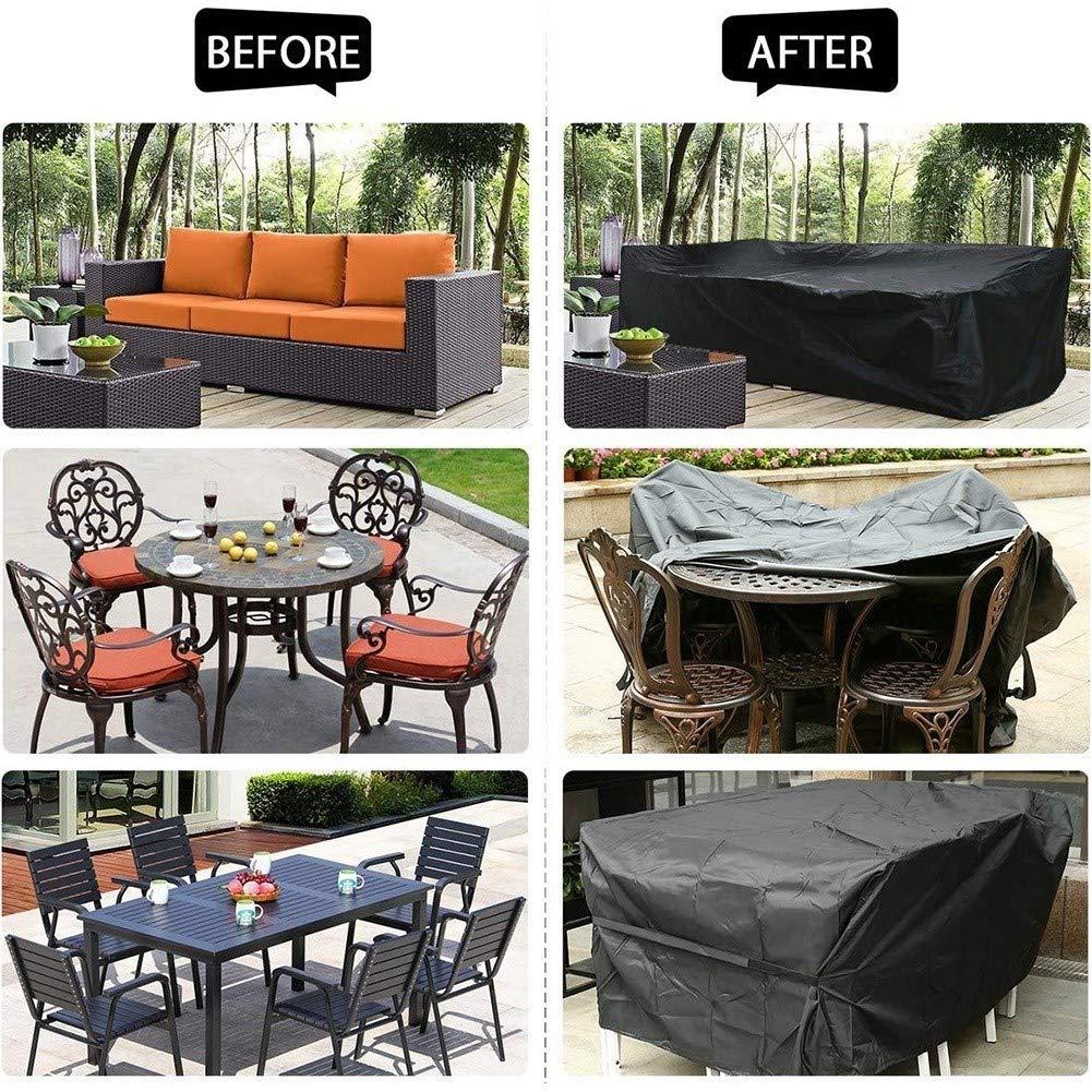 Color : Negro, Size : 0.6x0.6x0.6m WKZWY Patio Covers Se Pliega F/ácilmente A Prueba De Lluvia Al Aire Libre del Sof/á del Patio Trasero De La Cubierta Lateral Tabla