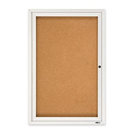 Awesome Quartet Enclosed Cork Indoor Bulletin Board, 2 X 3 Feet, Aluminum Frame  (2363