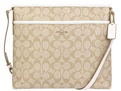 89e1bd19429b Coach Signature File Bag Crossbody Handbag Light Gold  F58297 ...