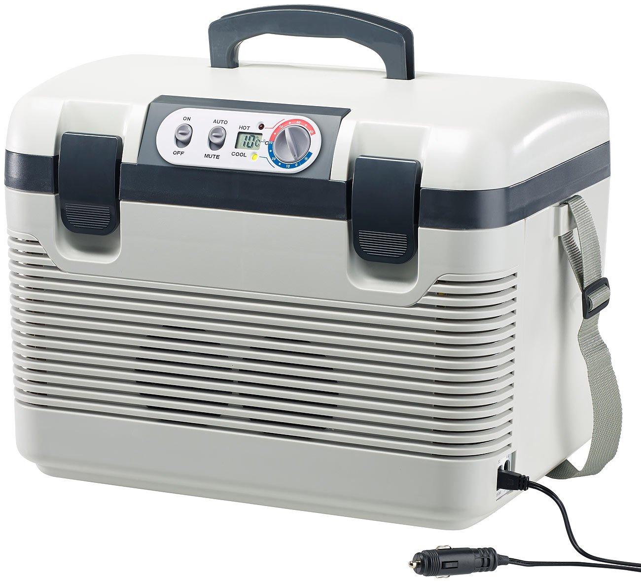 Xcase Auto Kühlbox: Thermoelektrische Kühl-/Wärmebox, LED-Anzeige, 12/24 & 230 V, 19 Liter (Elektrische Auto Kühlboxen)