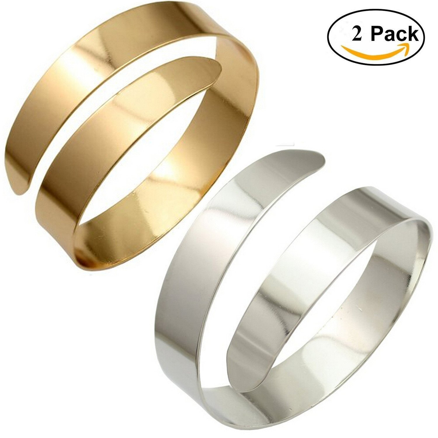 Amazon OCTCHOCO 2Pcs Gold Snake Arm Cuff Silver Upper Arm