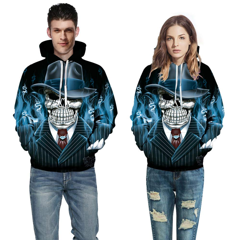 iLXHD Lovers Fashion Hoodies 3D Digital Printing Sweatershirt Top Blouse Jumper
