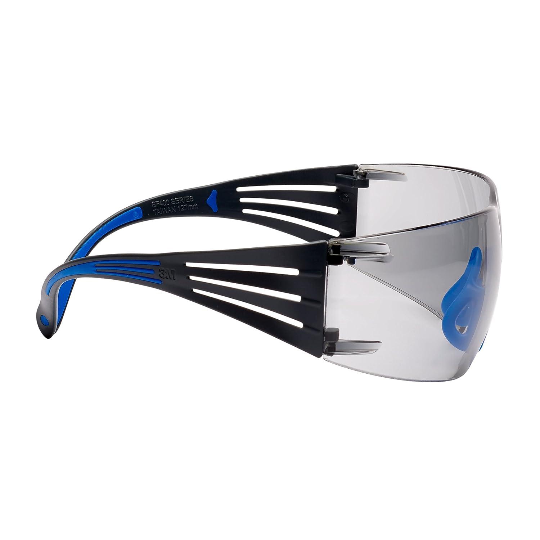 I//O miroit/é SF407SGAF-BLU EU Lunette de Protection 3M SecureFit 400 branches bleues//grises rev/êtement AB Scotchgard