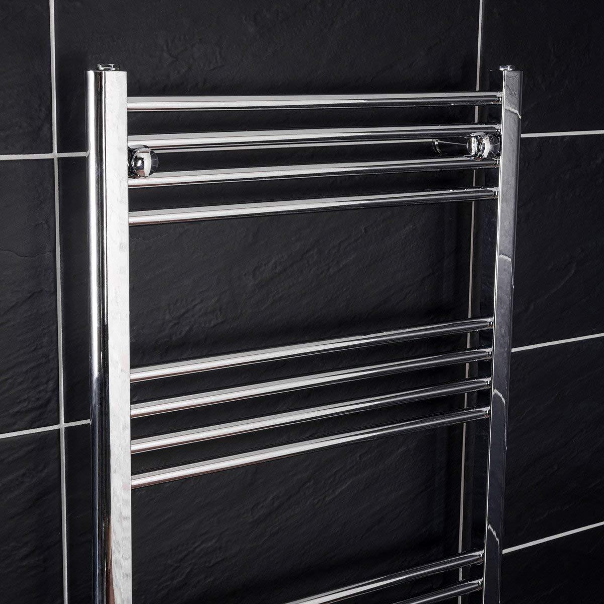 Bergen 700 x 400mm Scaldasalviette elettrico cromato design scala Termoarredo