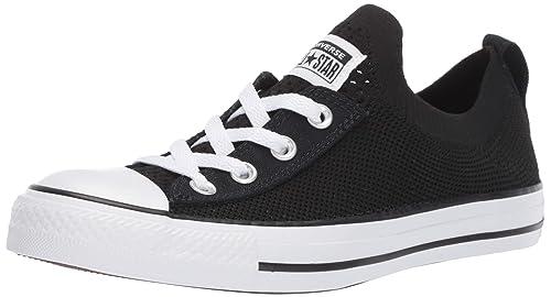 35278250 Converse Chuck Taylor All Star Shoreline Zapatillas sin Cordones Tejidas  para Mujer, Negro/Blanco