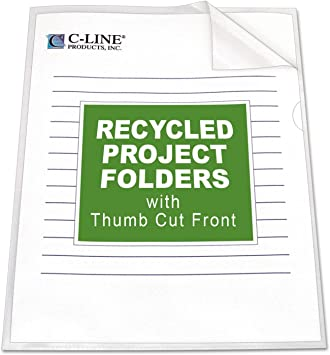 C-Line 25 ct 2 pk. Project Folders Jacket Letter Poly Clear