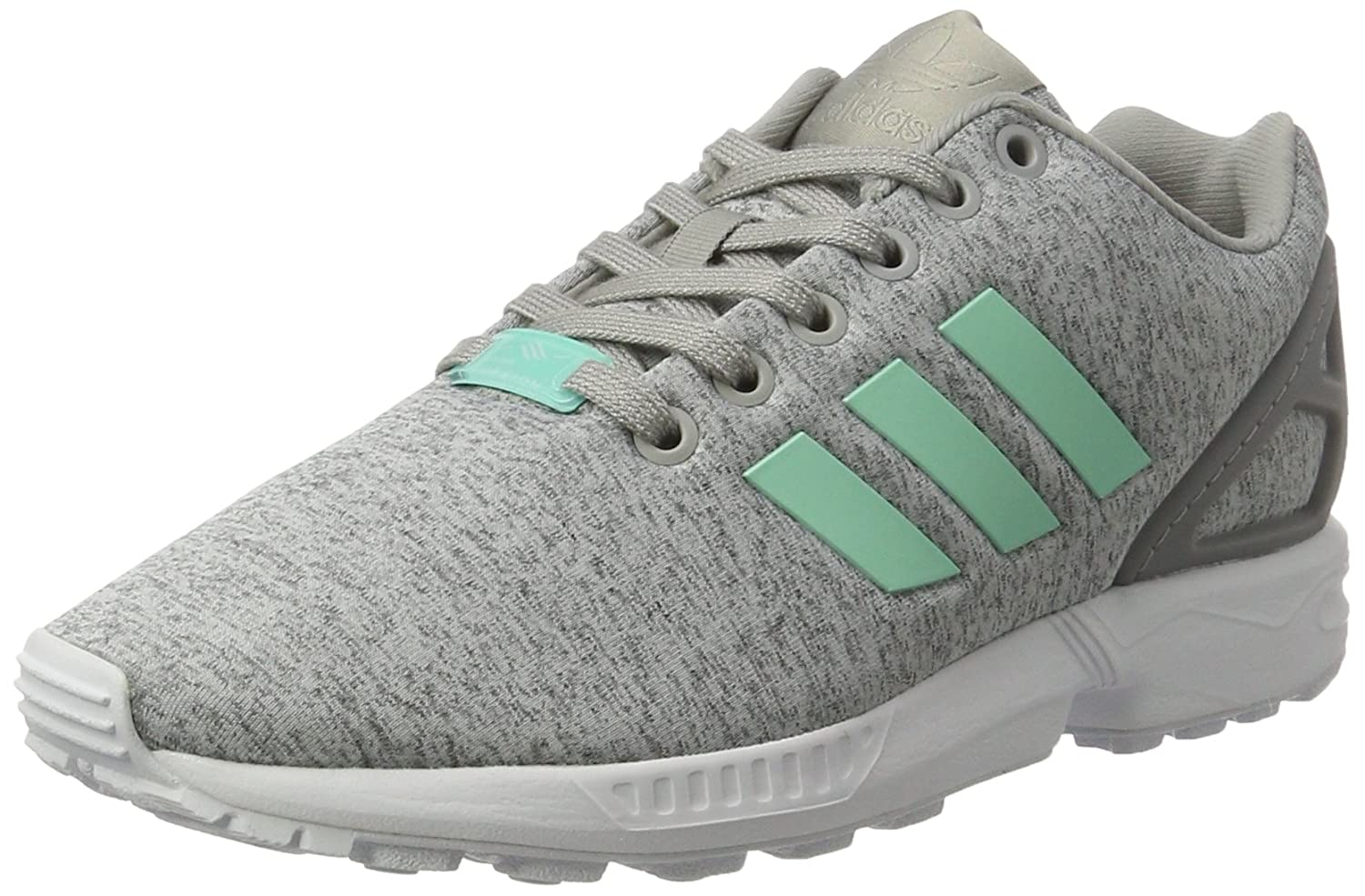 adidas Damen ZX Flux Sneakers  39 1/3 EU|Grau (Medium Grey Heather/Easy Mint/Ftwr White)