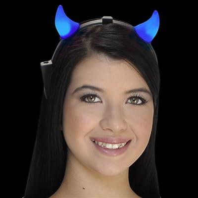 FlashingBlinkyLights Light up Blue Devils LED Headband: Toys & Games