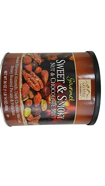 Savanna Orchards Gourmet Sweet & Smoky Nut and Chocolate Mix 30oz Almonds,  Dark