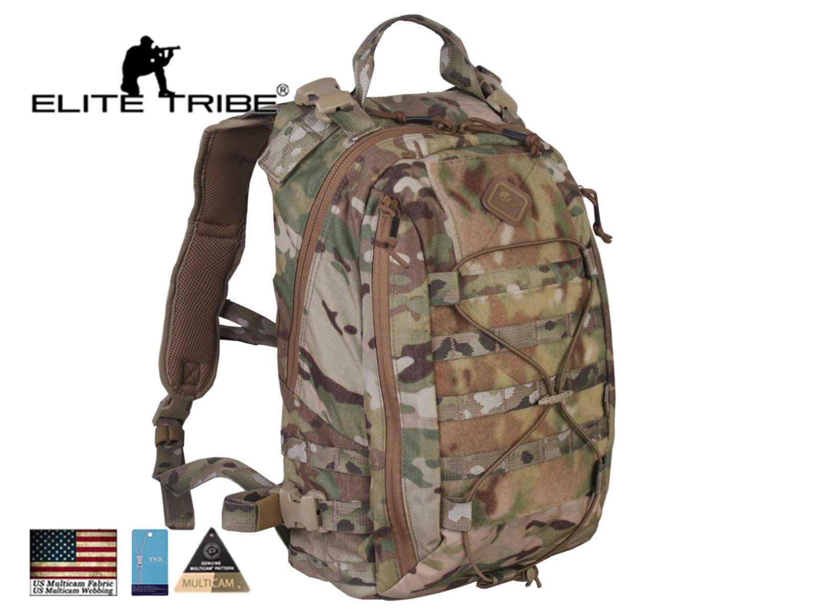 Elite Tribe Military Hunting Bag Tactical Assault Backpack Removable Operator Pack Multicam