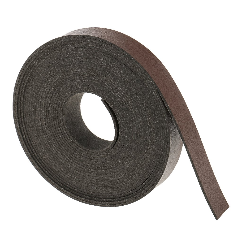 MagiDeal 5 Meters PU Leather Strap Strip for Leather Crafts DIY Bag Belt Material 2cm - Light Coffee, 5 Meters