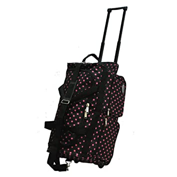 0bbe453d65  quot E-Z Roll quot  22 quot  Fashionable Polka Dots Rolling Duffel Bag  with ...