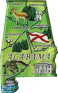 Flagline Alabama - Acrylic State Map Refrigerator Magnet