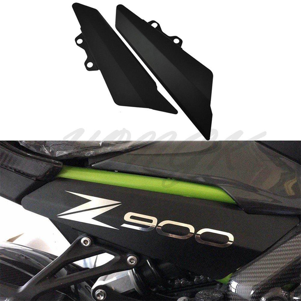 HongK- Aluminum Fairing Side Panel Cover Plate For Kawasaki Z900 2017 Matt Black