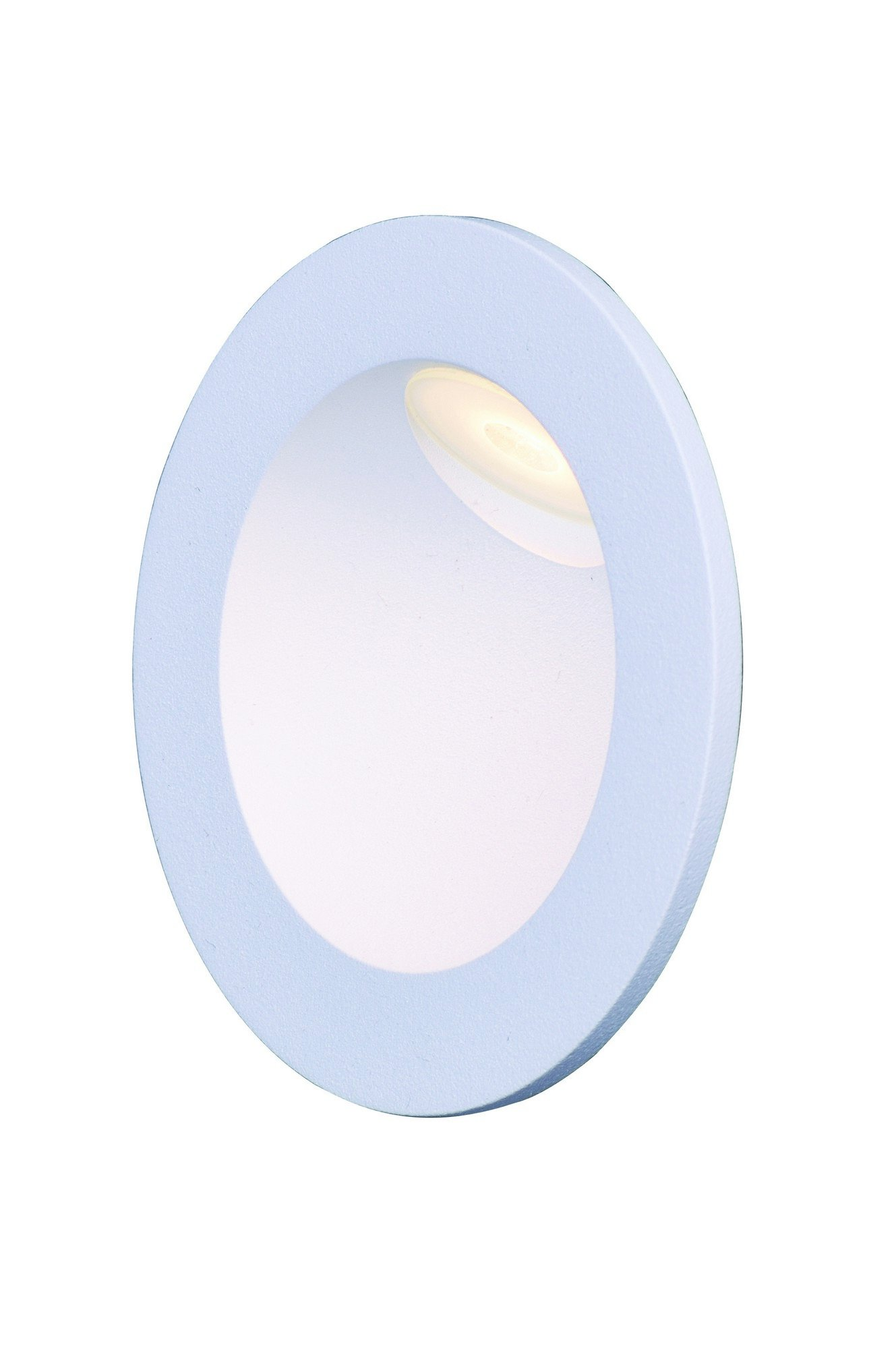 ET2 E41404-WT Alumilux LED Outdoor Wall Sconce, White Finish, Glass, PCB LED Bulb, 50W Max., Dry Safety Rated, Shade Material, 156 Rated Lumens