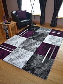 Modern Small Extra Large Sahara Purple Silver Black Marble Quality Thick Floor Long Carpet Runner Rugs