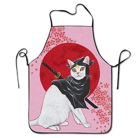 tgyew 2019 Apron Ninja Cat Cooking Aprons Cute Bib Aprons ...