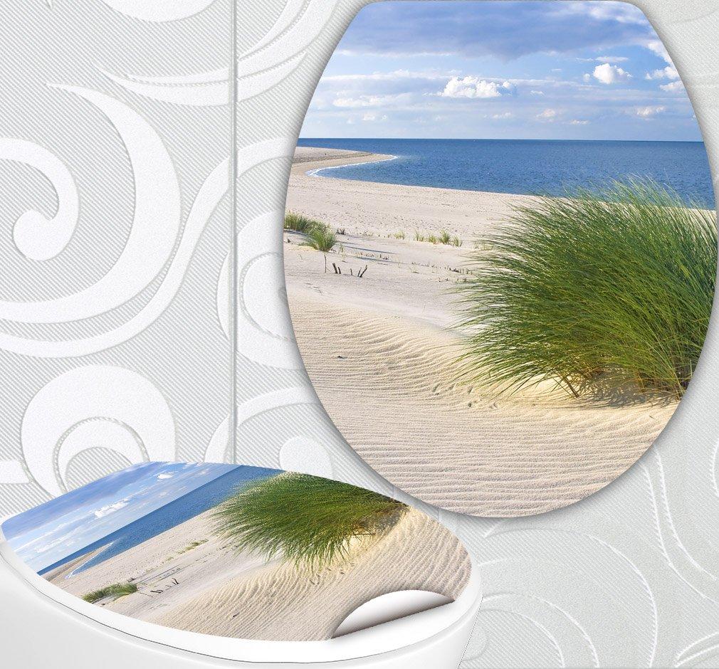 StickerProfis 'Sedile WC adesivi Dune crescendo Design Schermo parete per WC stanza incl. 2adesivi per piastrelle