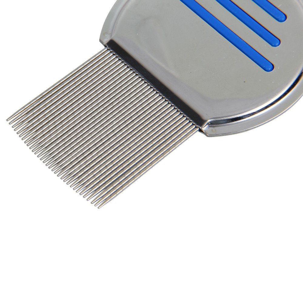 Terminator Lice Comb, Kemilove Professional Stainless Steel Louse and Nit Comb for Head Lice Treatment, Removes Nits