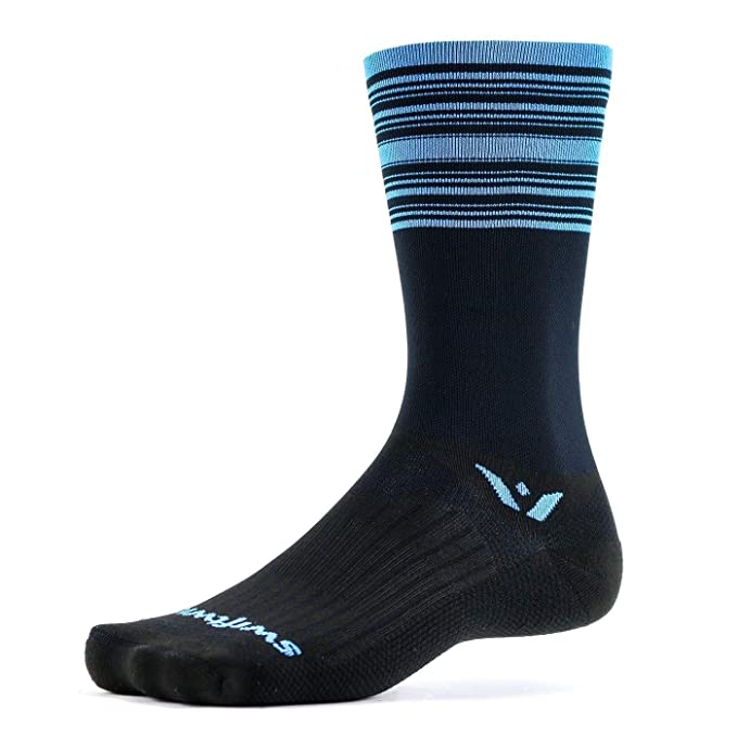 Swiftwick- ASPIRE SEVEN | Socks Built for Cycling, All Day Support | Firm Compression, Fast Dry, Responsive Feel, Tall Crew