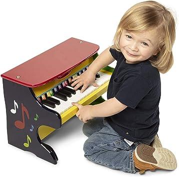 Melissa & Doug- Learn-to-Play Juguete Piano para Aprender A Tocar, Multicolor (11314)