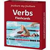 Verbs Flash Cards: 40 Action Language Photo Cards