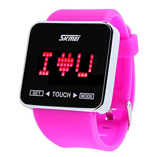 f3250fcd6 Image Unavailable. Image not available for. Color: Fanmis Touch Screen  Digital LED Waterproof Sport Casual Wrist Watches ...