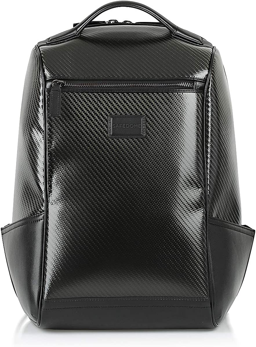 Safedome Genuine Carbon Fiber Laptop Anti-theft Backpack, Travel Accessories for Men, Cool Stuff or Stylish Gifts for Men 17-inch, 18L Capacity