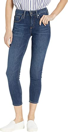 Womens Avery Curvy-fit High Rise Skinny Crop Jeans Silver Jeans Co