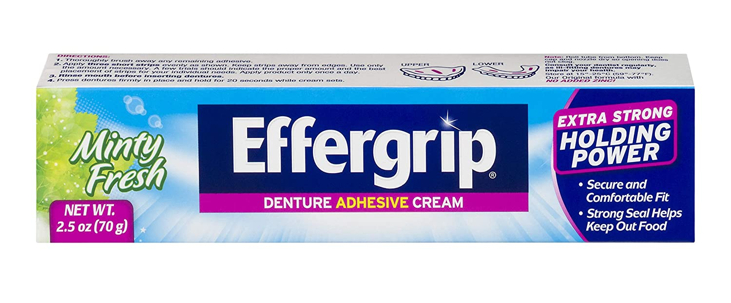 Effergrip Denture Adhesive Cream 2.5 OZ Medtech Product Inc. 814832010317