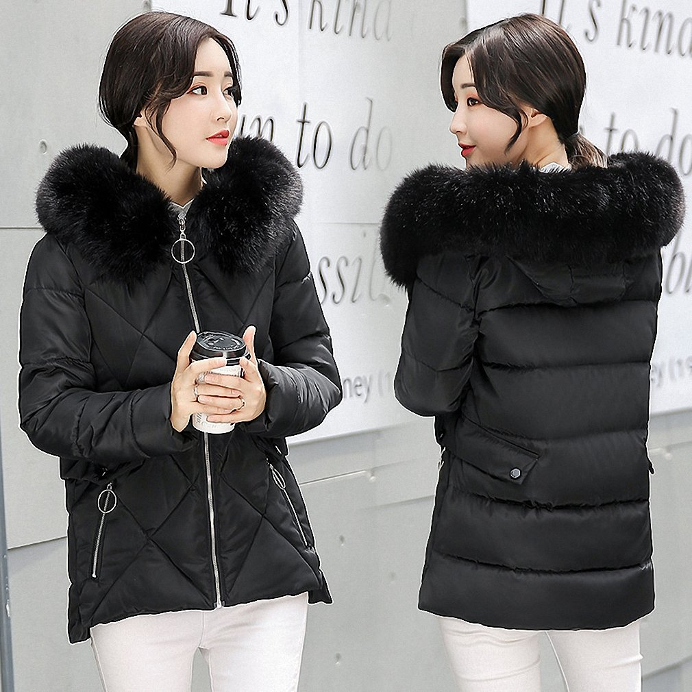 Black Womens Parka Winter Jackets And Coats Thick Warm Hooded Down Cotton Padded Parkas For Winter Jacket Female Manteau Femme