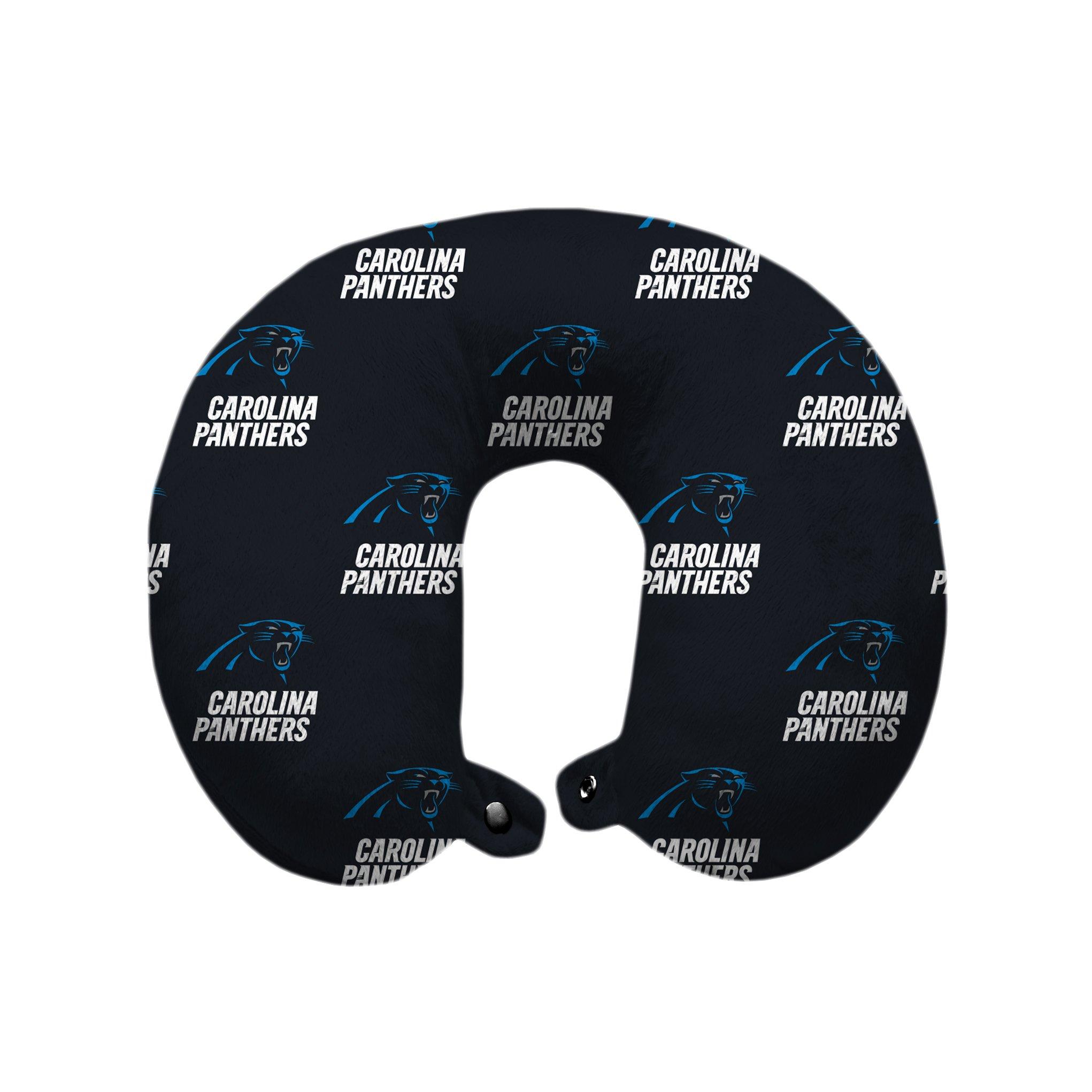 Pegasus Sports NFL Carolina Panthers Carolina Panthers U-Neck Polyester Travel Pillow, Panther Blue by Pegasus Sports