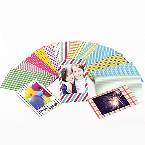 Sticky Shoot 2x3-Inch Polaroid and Fujifilm Fiji Instax Mini Film Sticker Set for Instant Cameras - Decorate Your Films and Photo Album with 80 Different Border Stickers