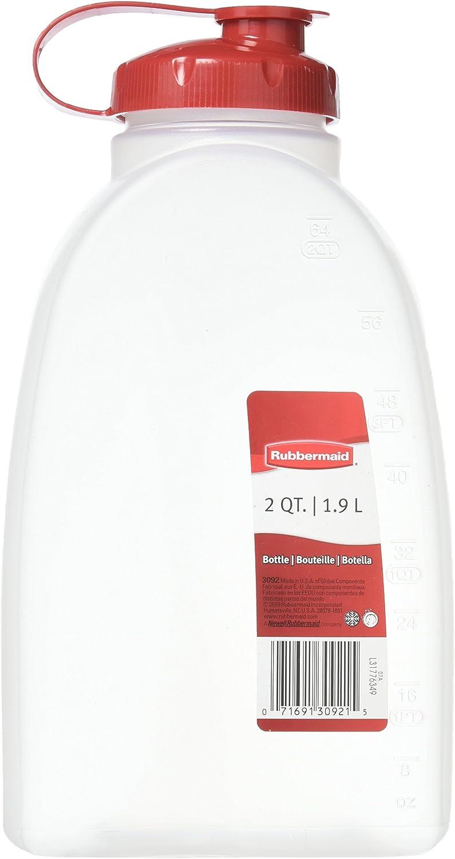 Rubbermaid 071691309215 1776349 2 Quart Servin' Saver Bottle, 1-Pack, Red