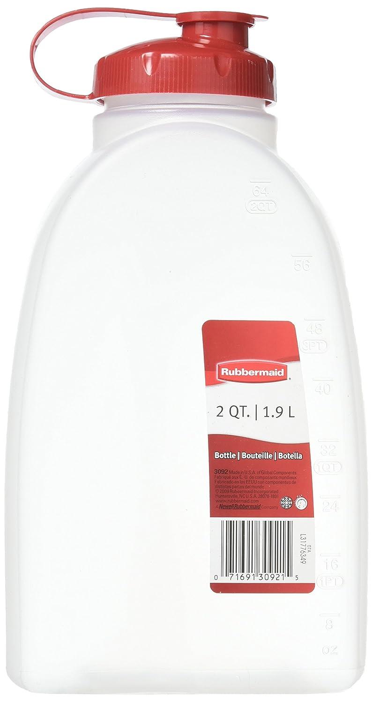 Rubbermaid COMINHKPR17934 071691309215 1776349 2 Quart Servin' Saver Bottle, 1-Pack, Red