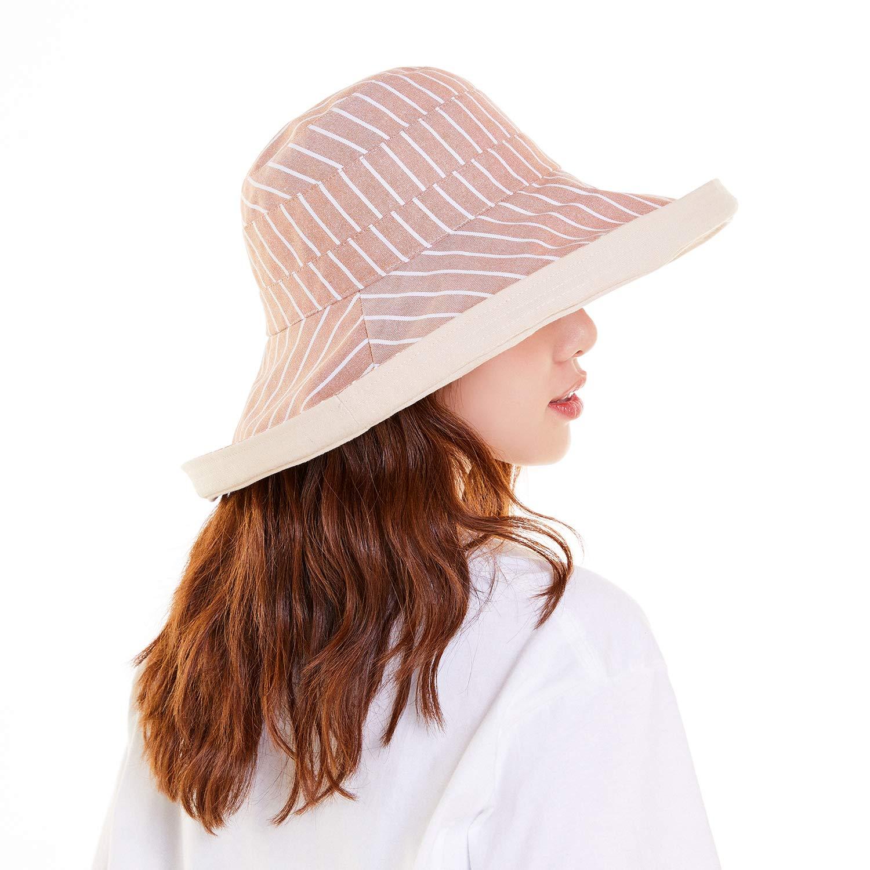 Tagvo Sombreros de Sol para Mujer Sombreros de Verano para Mujer Viseras de Playa de ala Ancha UPF50 Protector Solar Plegable con Correa de Barbilla Desmontable