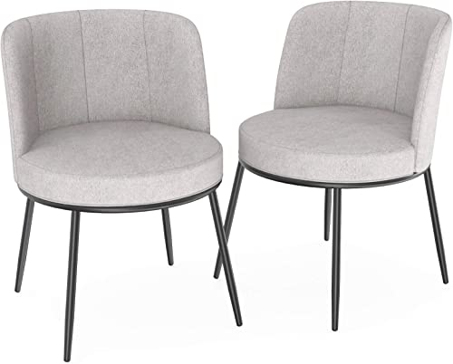 mecor Modern Fabric Dining Chairs Set of 2