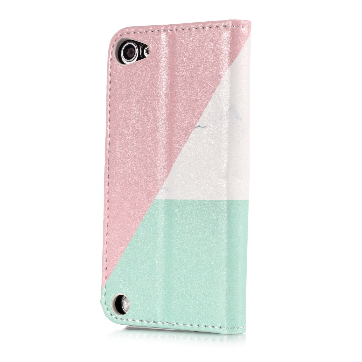 DAMONDY iPod Touch 5,iPod Touch 6, Shiny Marble Cute Pattern Wallet Purse Credit Card ID Holders Design Flip Leather Cover TPU Soft Bumper Kickstand Magnetic for Apple iPod touch 5 6th-bad dog