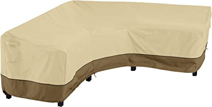 Amazon Com Classic Accessories Veranda Waterproof Patio V Shaped Sectional Sofa Cover Heavy Duty Patio Furniture Lounge Set Cover With Air Vent And Attachment Strap 100 Inch Garden Outdoor
