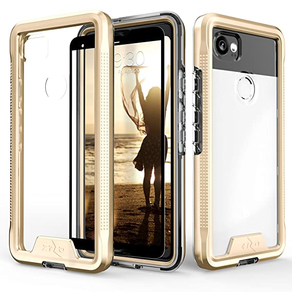 separation shoes 8375e 9e85c Zizo ION Series Google Pixel 2 XL Case - Military Grade Drop Tested with  Clear Tempered Glass Screen Protector (Gold & Clear)