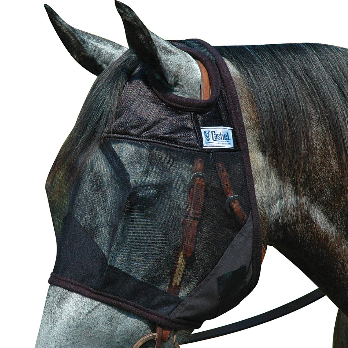 Cashel Quiet Ride Standard Fly Mask No Ears or Nose - Size: Horse by Cashel