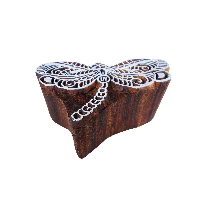 Wooden Printing Block Tree Pottery Stamps Printing Block Brown Scrapbook Stamp
