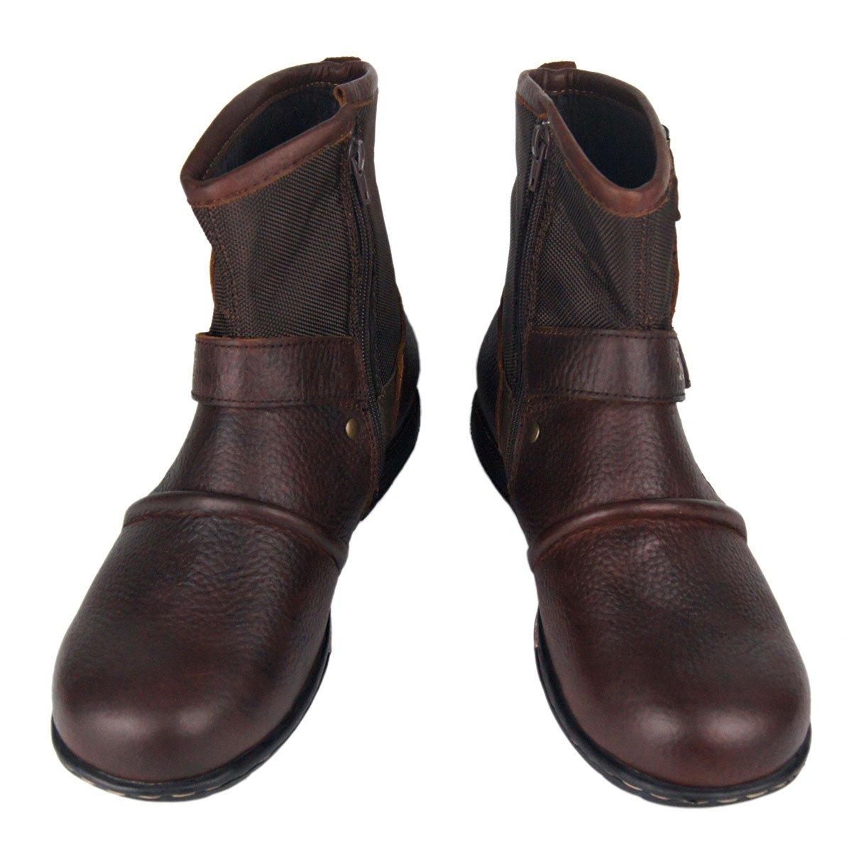 Zapatos house Botas Botas Botas de Moto de Cuero de los Hombres de Encaje en la Cremallera del Tobillo Llano Botas Militares tácticas de Combate de Trabajo a pie,A,US10=EU44 d9afe3
