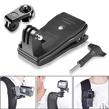 493ec501341c16 Action Camera Clamp Mount, Fantaseal 360 Degree Rotary Backpack Clip Mount  Compatible for GoPro Hero 7/ 6/ 5/ 4/ 3+/ 3/ Session SJCAM SJ4000 Garmin  Virb XE ...